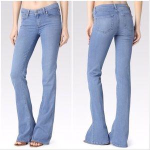 Paige Lou Lou Flare Mid Rise Jeans